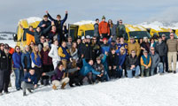 Montana School Travels Through Yellowstone by Snowcoach
