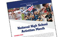 National High School Activities Month Celebrated in October